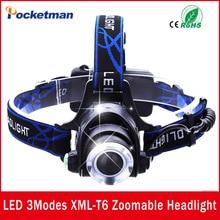 LED Headlight CREE T6 led headlamp zoom 18650 Head lights head lamp 2000lm XML-T6  zoomable lampe frontale LED BIKE light