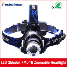 USA EU Hot HP79 Head light Head lamp Cree XM-L T6 led 3000LM rechargeable Headlamps Headlights lamp lights