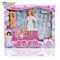 31 cm muñeca doc. mcstuffins doctor conjunto de juguete para el regalo de la muchacha/paquete de la caja original/accesorios médico inclue 5 ropa props Médica