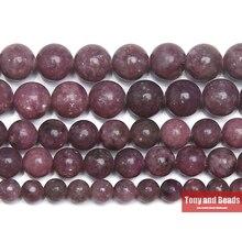 """Натуральный камень лепидолит круглые бусины 1"""" нить 4 6 8 10 12 мм выбрать размер для изготовления ювелирных изделий"""