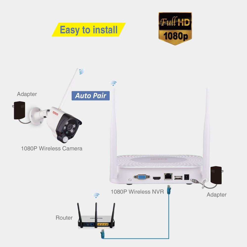 8CH 1080 P 2MP IP Kamera Audio Record Drahtlose Sicherheit CCTV System Hause NVR cctv Kamera Video Überwachung Kit PIR sensor Tonton