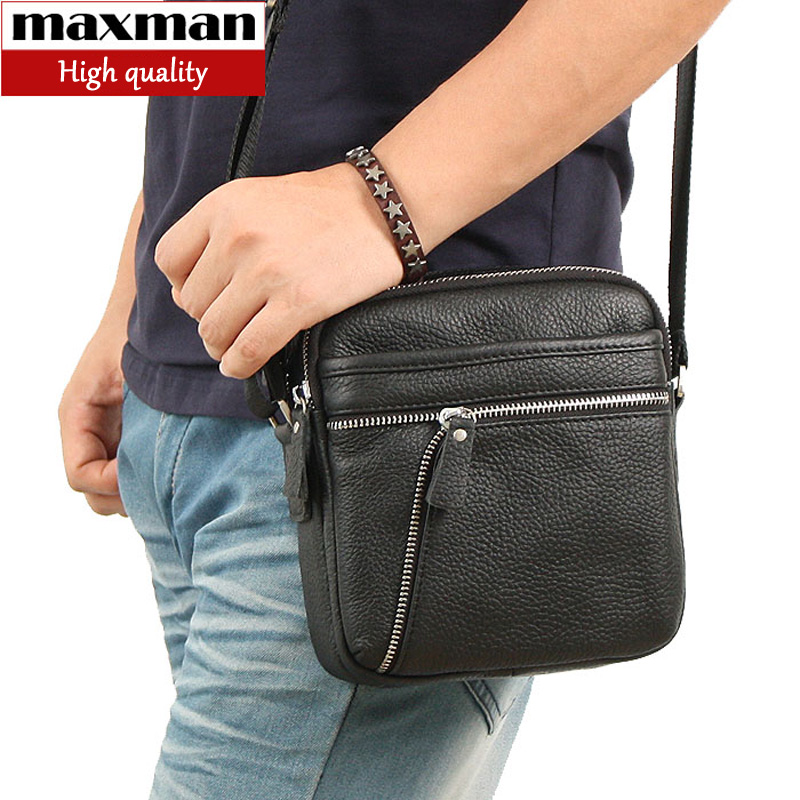 Genuine leather man bag male cowhide shoulder bags for men men messenger bags small bag business casual brief 2015