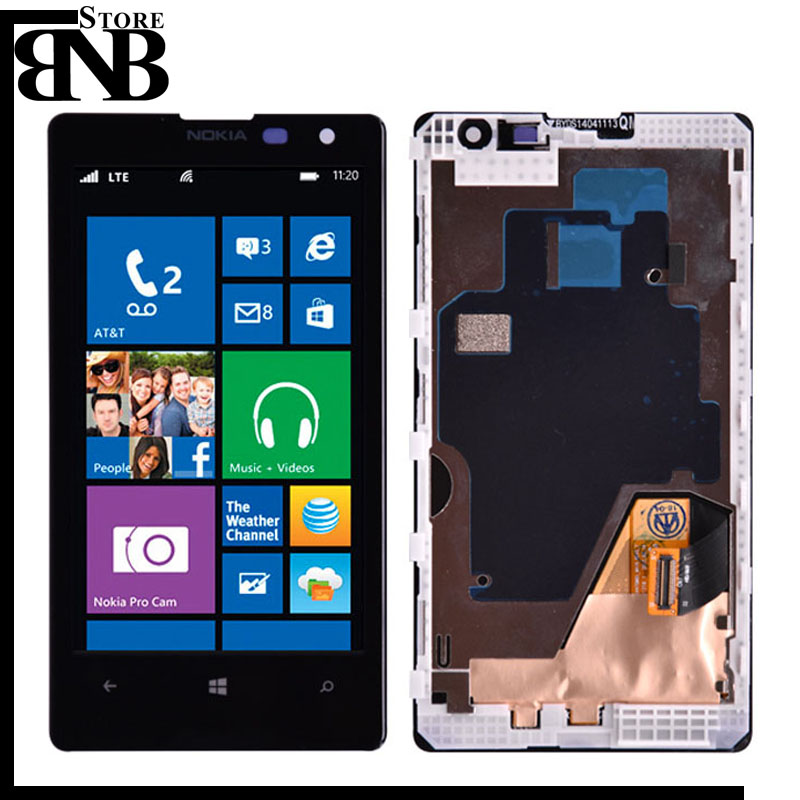 Original For Nokia Lumia 1020 LCD Display with Touch Screen Digitizer Assembly with frame Free shippingOriginal For Nokia Lumia 1020 LCD Display with Touch Screen Digitizer Assembly with frame Free shipping