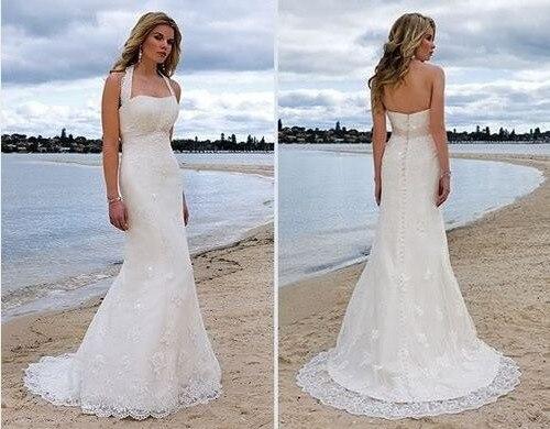 Popular Halter Top Beach Wedding Dresses-Buy Cheap Halter Top ...
