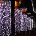 10m 20m 30m 50m LED string lights flashing colored curtains ktv bar neon lights  waterproof Twinkle Lights  outdoor wire curtain