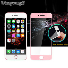 3D Curved Matte Tempered Glass For iPhone 6 6plus 7 7plus protective glass on the for 9H Carbon Fiber Full Screen Cover