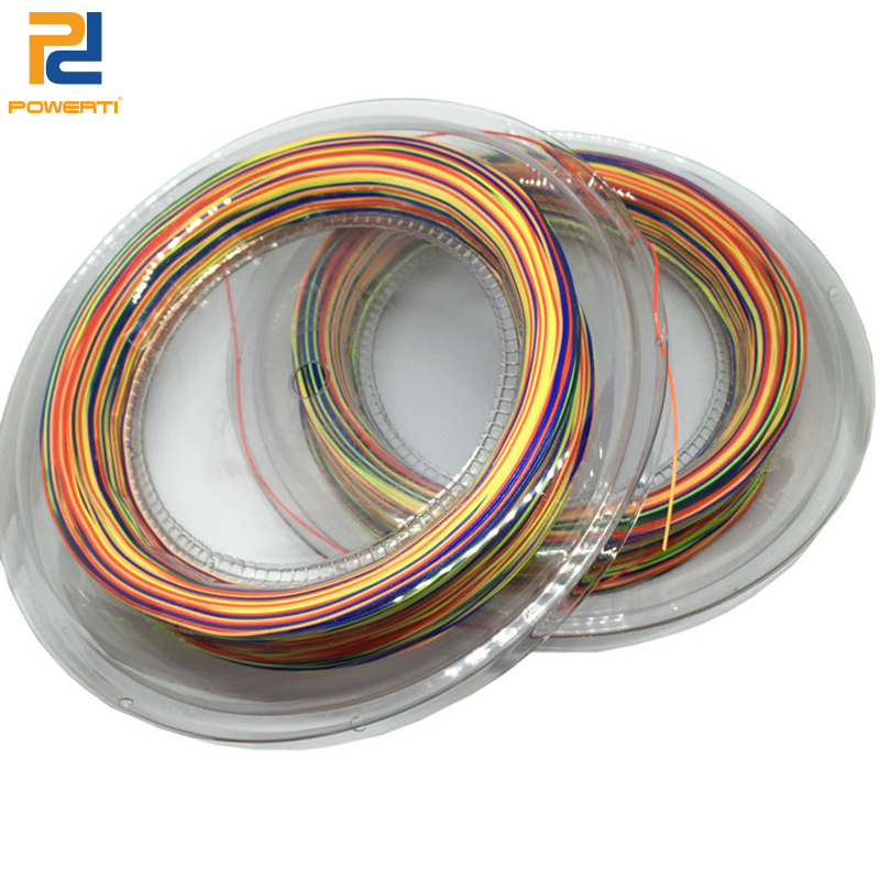 POWERTI Rainbow 0.68mm Badminton Racket String Control Durable 200 Reel String RS Micro 2000 High Elasticity String