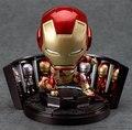 Ironman Цифры Супермен Фигурки Съемные Игрушки Тони Старк Фигурки Пвх 10 см Мультфильм Цифры Hot Toys Hobbies