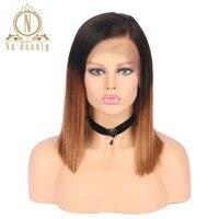 Brezilyalı Remy Saç Düz Dantel Ön Peruk T1B 30 100% İnsan Saç Ucuz Peruk Na Güzellik Saç Ücretsiz Nakliye