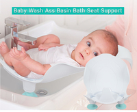 Baby PP Material Wash Ass Basin Bath Seat Support Infant Bidet