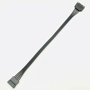 Image 5 - 30 CM czarny pojedynczy rękaw SATA 15Pin męski na żeński przedłużacz kabla HDD SSD moc kabel zasilający SATA kabel zasilający dla PC nowy
