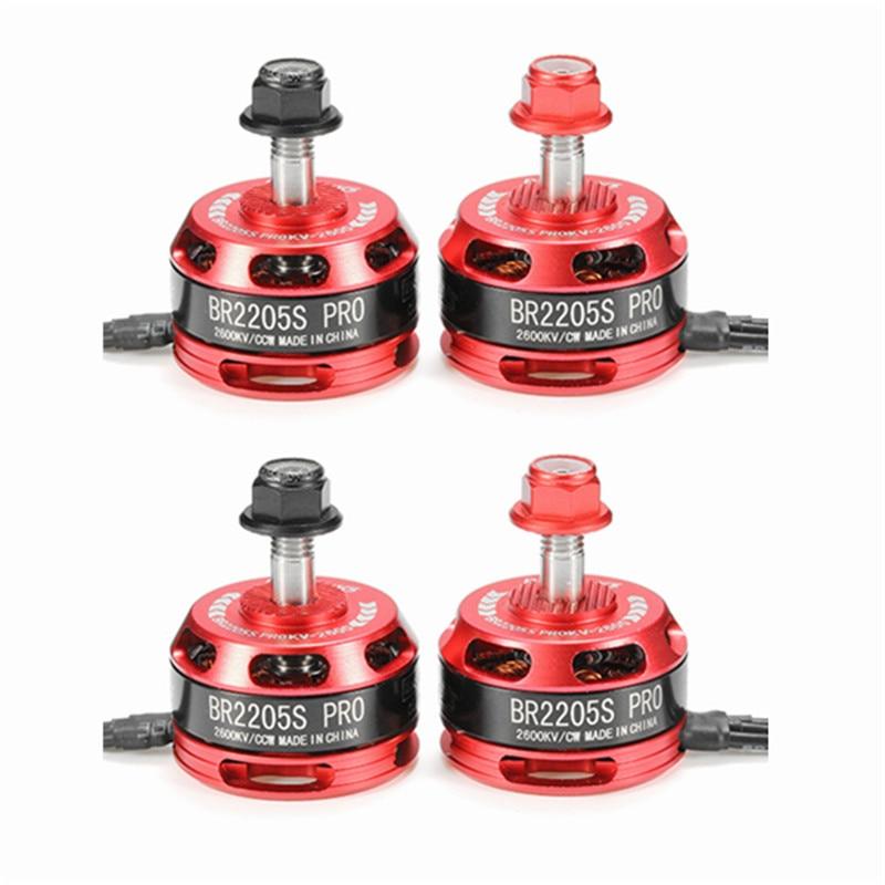 Mejor oferta 4 piezas Racerstar Racing Edition 2205 BR2205S PRO 2600KV 2-4 s Motor sin escobillas para X210 X220 250 FPV Racer RC Drones