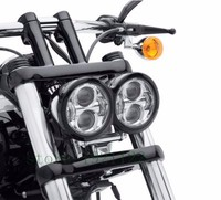 1 Pair Led Moto Round Headlamp 4.65 Inch moto LED Headlights Assembly Motorcycle Accessories for Harley Dyna Fat Bob Front Lamps