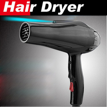 Buy online styling tools hair dryer black professional blow dryer hot and cold wind 2300w nano titanium 2.4M + 2 free nozzles hairdryer