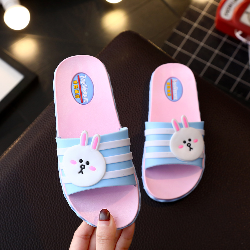Cute New Children Boys Girls Bathrooms Soft Soles Baby Slippers Sandals Girls Slippers Outside Bathroom Fashion Waterproof Cute