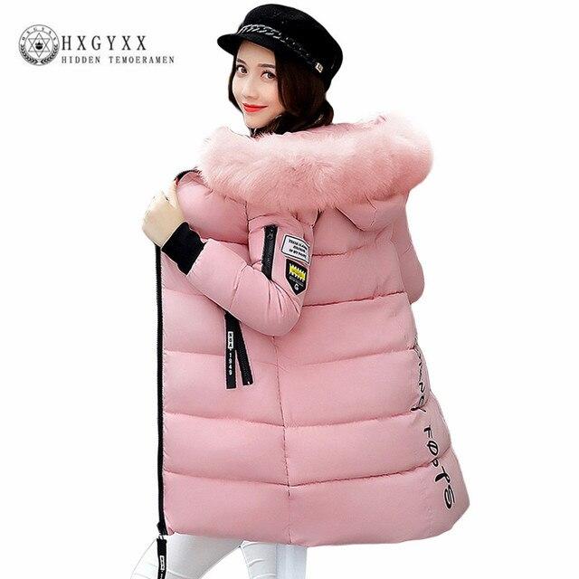 4a5c03d985458 Ciepłe futro moda płaszcz z kapturem pikowana kurtka zimowa kobieta 2019  jednolity kolor zamek w dół