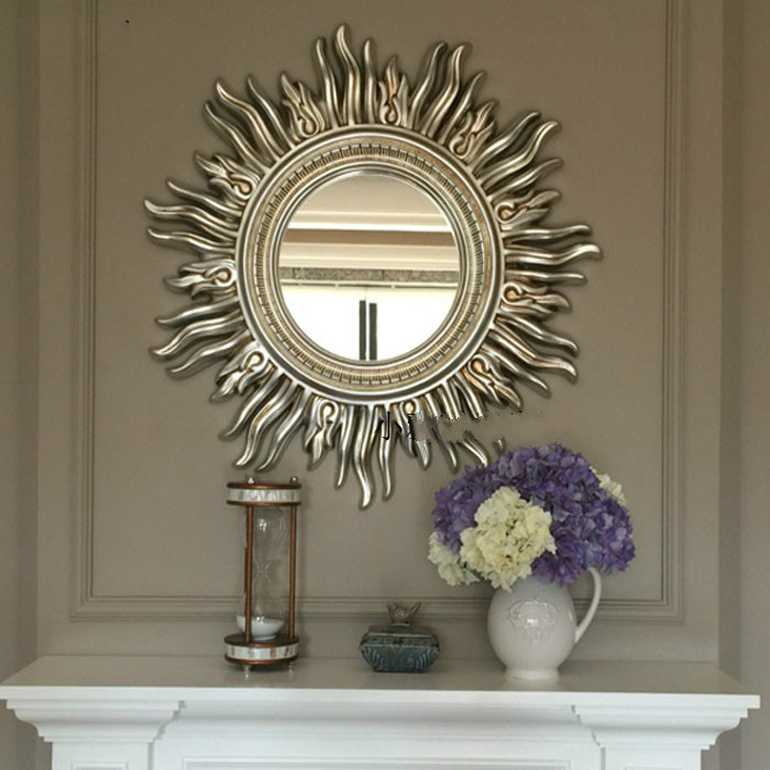 Sun Apolo Wall Decorative Mirror Bathroom Mirror Art Designs Gold/silver/champion|Decorative Mirrors|   - AliExpress