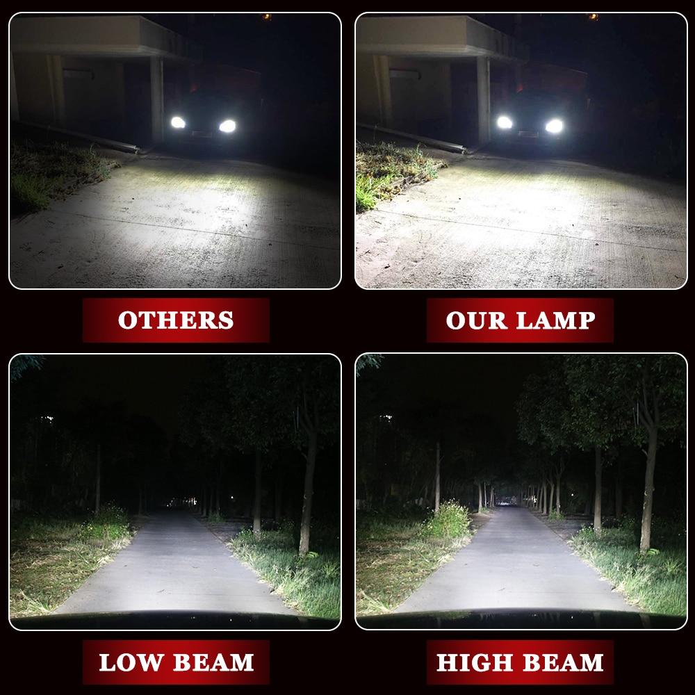 H7 LED-glödlampa H1 H4 H3 H11 Bilstrålkastarlampor S500 Golden - Bilbelysning - Foto 3