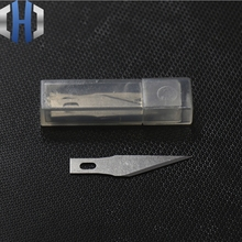 цена на [10 Pieces] Titanium Alloy Utility Knife Brass Art Blade Film Repair Blade Cutting Paper Carving Knife Blade