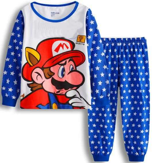 ... Детские пижамы Хлопковая детская пижама одежда с длинным рукавом Ночная  одежда Пижама для Обувь для мальчиков ... e0645baa9fc6f