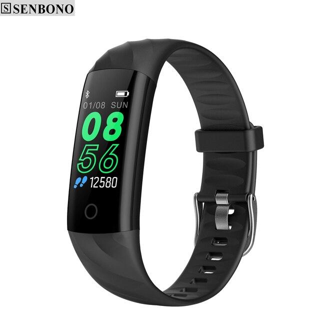 SENBONO pulsera inteligente S5 Bluetooth IP68, con control del ritmo cardíaco y de la presión sanguínea, resistente al agua y con Monitor de oxígeno, seguidor de actividad