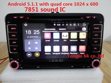 2 din 7 «Android 5.1.1 автомобильный dvd для volkswagen golf, passat, polo, golf 4, В6, навигация gps, canbus, RDS, 3 Г, Wi-Fi, 7851, quad core, 1024×600