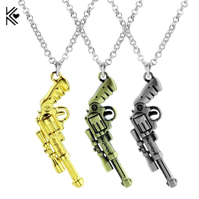 Punk style 24 levoler gun pendant necklace hip hop chain jewelry punk style 24 levoler gun pendant necklace hip hop chain jewelry vintage silver gold bronze color mozeypictures Images