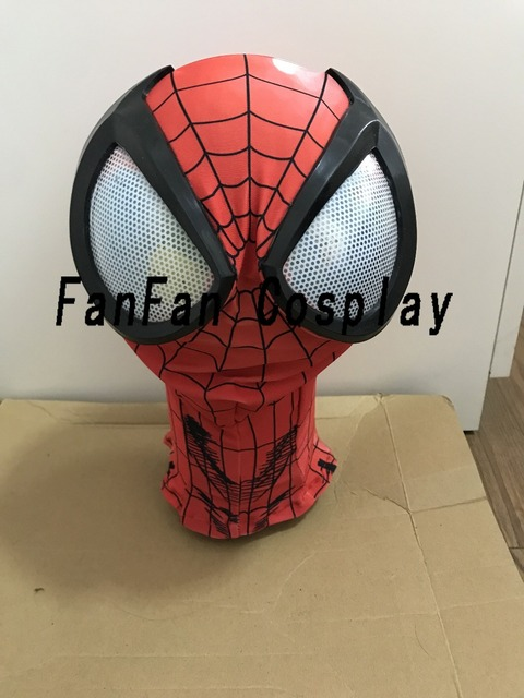 3D Spiderman Masks Big Spiderman Lenses Spiderman Mask for Halloween Party Costume Props Adult Hot Sale