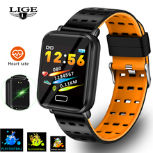 LIGE Smart Bracelet Heart Rate Blood Pressure Monitoring Fashion Sport Fitness Tracker Smart Band Pedometer For Android IOS+Box