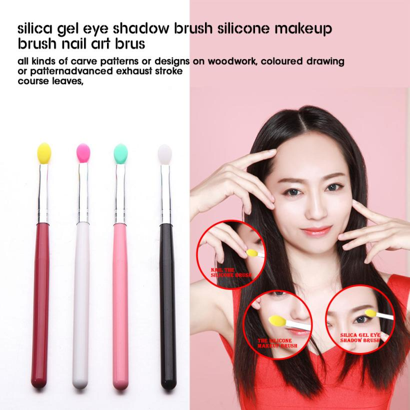 New 4pcs set Silicone Eyeshadow Brushes font b Applicator b font Lip Blending Brush Nail Brush