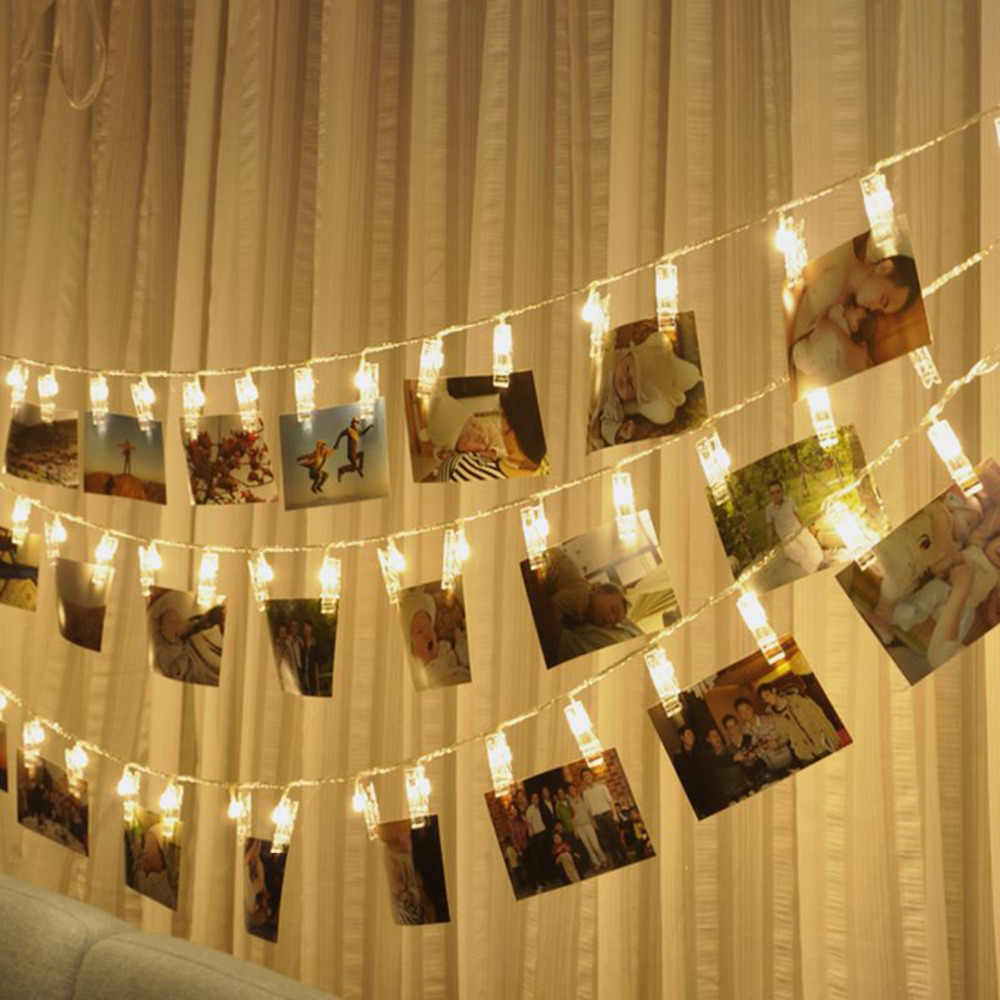 Wedding Decoration Photo Clip Led String light Personalized Starry Photo Holder String Light Birthday Party Christmas Decor