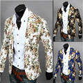 Blazer Men 2016 New Winter Korean Version Slim Dimensional Tailoring Fashion Wild Flowers Suits Men's Casual Suits Coat