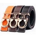 2017 Gg Alta Calidad Mens Cinturones De Cuero F Blet Hombres Cinturón Marca de Lujo Original Carta Hebilla de Lujo Correas Cinturones hembres