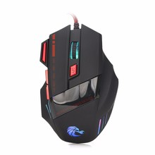 Computer Accessories 7 Keys LED Optical USB Wired Gaming Mouse Mice For Gamer Laptop 3200DPI H200 New