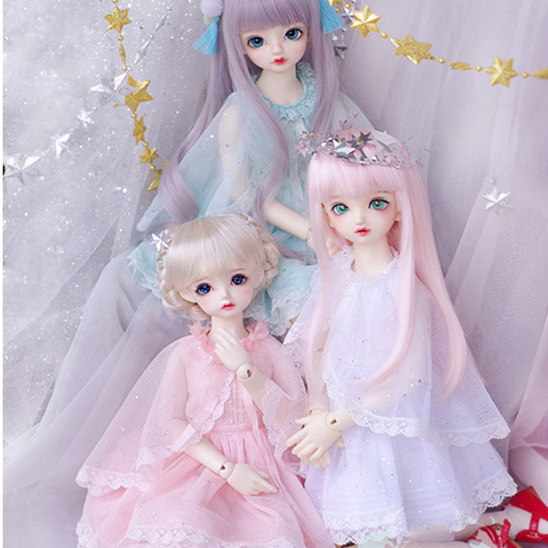 YF8-188 suit white dress jumpsuit clothes For 1//8 BJD doll SD doll Tiny