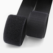1M/pair Black  Hook and Loop Fastener Tape Magic Nylon Sticker Adhesive Loop Disks Velcr Double-sided glue magic sticker