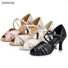 Lemochic caliente-venta vientre América Polo salón arena zapatos de baile  las mujeres zapatos de baile de salsa Tango Samba . e911e11a06c7