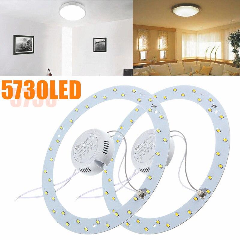 Smuxi 18 Watt 5730 LED Ring Panel Kreis Ring Deckenleuchte leuchte Bord Lampe 220 V LED Runde Decken Bord Der Rund lampe