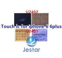 5 paia/lotto (10PCS) NUOVO schermo di tocco ORIGINALE ic per Il Iphone 6 6 più di cristallo U2401 + nero U2402 ( 343S0694 BCM5976C1KUB6G)