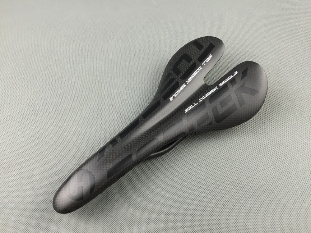 ФОТО new painting TOSEEK full carbon bike saddle road/mtb bicycle saddle t800 black matte racing bicycle part 115g