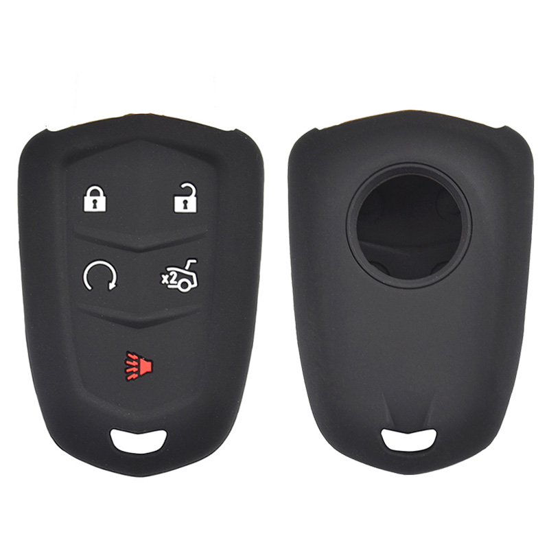 White Smart Remote Key Case Skin Cover Fit For CADILLAC Escalade XTS ATSL SLS