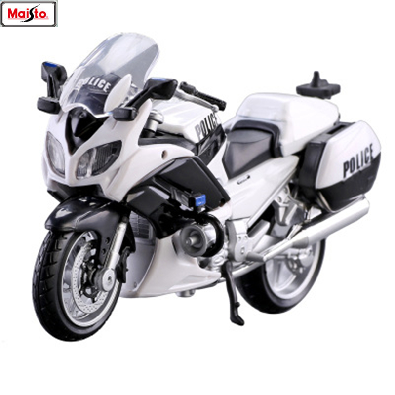 Maisto 1:18 BMW Yamaha Police Motorcycle Series Silvardo Original Authorized Simulation Alloy Motorcycle Model Toy Car