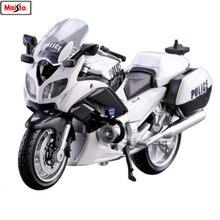 Maisto 1:18 BMW Yamaha Police motorcycle series Silvardo original authorized simulation alloy model toy car