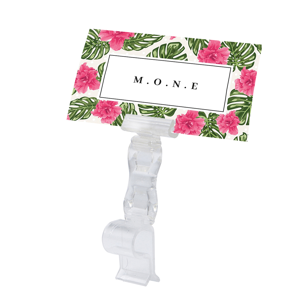 Rotatable Direction Pop Clips Transparent Double Clamps Price Tag Clip Label Holder Price Card Display Clamp Sign Holder Clamps