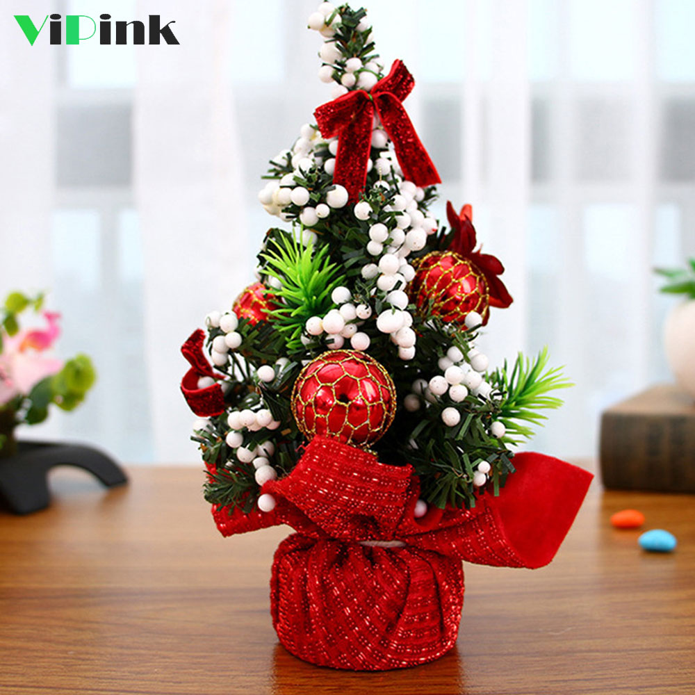 New Year Party Decor 20CM Artificial Christmas Trees Xmas ...