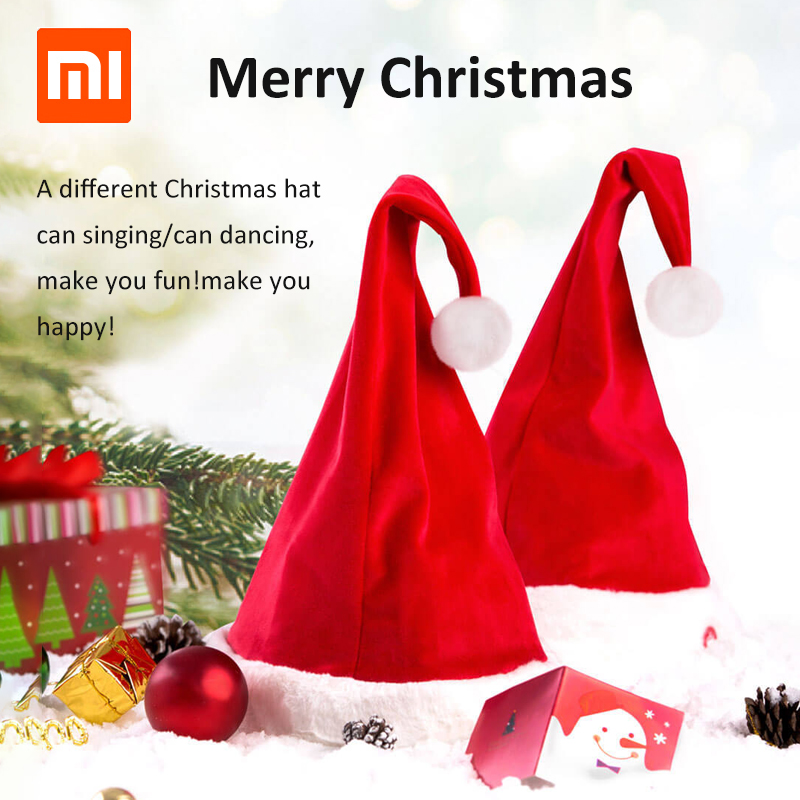 cb4699647ee89 2018 Newest Xiaomi Magic Fun Christmas Hat Stand Not Falling Size  Adjustable Santa Claus Hat Singing Dancing Christmas Cap-in Smart Remote  Control from ...
