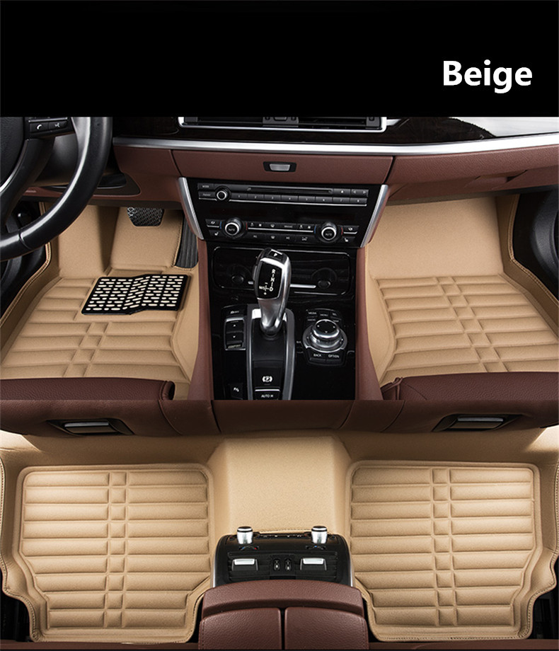 Auto Floor Mats For Peugeot 508 2015.2016.2017.2018 Foot Carpets Step Mat High Quality New Water Proof Clean Solid Color Mats