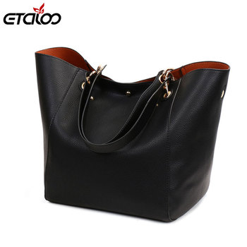 Leather Handbags Big Women Bag 2PCS/Set High Quality Casual Female Bags Trunk Tote Shoulder Bag Ladies Large Bolsos