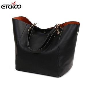 Leather Handbags Big Women Bag 2PCS/Set High Quality Casual Female Bags Trunk Tote Shoulder Bag Ladies Large Bolsos(China)