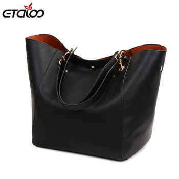 Leather Handbags Big Women Bag 2PCS/Set High Quality Casual Female Bags Trunk Tote Shoulder Bag Ladies Large Bolsos - DISCOUNT ITEM  51% OFF All Category